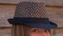 Load image into Gallery viewer, Fedora Hat - Black Rimmed - Beths Emporium