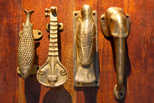 Load image into Gallery viewer, Polished Brass Fish Door Handle Pull - Sea or River - Beths Emporium