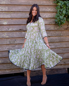 The Magic Dress - Green and White - Beths Emporium
