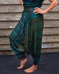 Green & Silver Jeannie Boho Pants - Beths Emporium