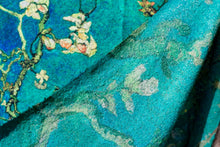 Load image into Gallery viewer, Impressionist Art Scarf - van Gogh : Cherry Blossoms. Wool/Cotton