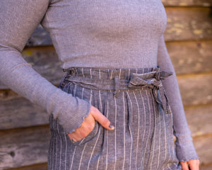 High Waist Striped Pants - Beths Emporium