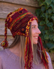 Load image into Gallery viewer, Hand Knitted Wool Boho Beanie with Ear Warmers - Beths Emporium