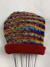 Load image into Gallery viewer, Hand Knitted Wool Boho Beanie - various colourways - Beths Emporium