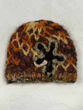 Load image into Gallery viewer, Hand Knitted Flower Boho Beanie - Beths Emporium