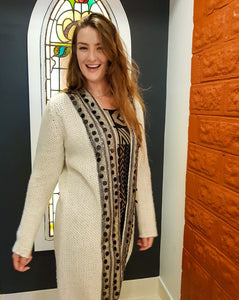 Chunky Knit Cardigan - Sophisticated, Long length - Beths Emporium