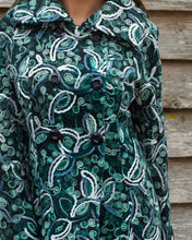 Load image into Gallery viewer, Moss Green & White Stitch Jacket - Beths Emporium