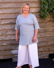 Load image into Gallery viewer, Soft Blue & White Stripe Top - Beths Emporium
