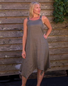 Strappy Dress - Khaki - Beths Emporium