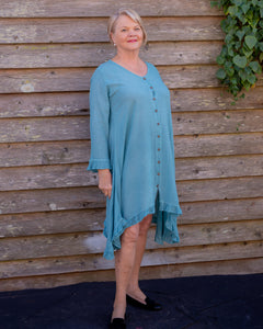 Aqua blue dress - Beths Emporium