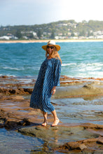 Load image into Gallery viewer, Summer Indigo Boho Flowing Dress - Hand Block Printed - 100% Cotton