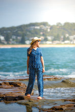 Load image into Gallery viewer, Summer Indigo Boho Pants - Hand Block Printed - 100% Cotton