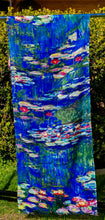 Load image into Gallery viewer, Cotton Impressionist Art Scarf - Monet : Water Lilies