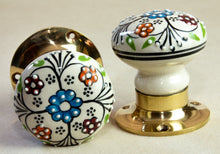 Load image into Gallery viewer, Handpainted Vintage Antique Ceramic Door Handles - Celtic Country - Beths Emporium