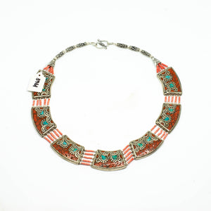 Hand Crafted Tibetan Necklace - Paisley Pattern - Beths Emporium