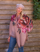 Load image into Gallery viewer, Dusk Pink & Roses Scarf - Beths Emporium