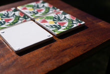 Load image into Gallery viewer, Set of Coasters - Picnic Time - Watermelon & Monstereo - Beths Emporium