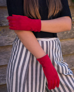 Crimson Red Gloves - Beths Emporium