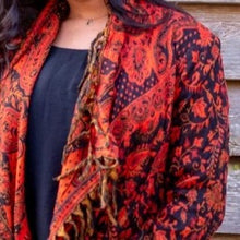 Load image into Gallery viewer, Soft Boho Indian Jacket - Red - Beths Emporium