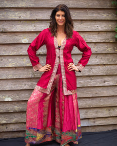 Exotic Red & Silver Boho Jacket - Beths Emporium