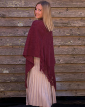 Load image into Gallery viewer, Burgundy Knit Poncho - Beths Emporium