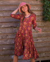 Load image into Gallery viewer, The Magic Dress - Red with Gold Flowers - Beths Emporium
