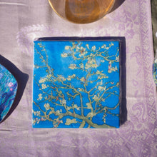 Load image into Gallery viewer, Napkins, van Gogh's Cerry Blossoms - Impressionist Art - Beths Emporium