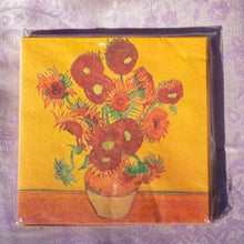 Load image into Gallery viewer, Napkins, van Gogh Sunflowers - Impressionist  Art - Beths Emporium