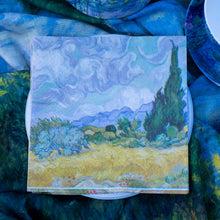 Load image into Gallery viewer, Napkins, van Gogh's Wheatfield with Cypresses - Impressionist Art - Beths Emporium