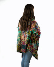 Load image into Gallery viewer, Reversible Silk Jacket - Coat of Many Colours with Black - Collared - Beths Emporium