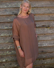 Load image into Gallery viewer, Brown Silky Dress - Beths Emporium