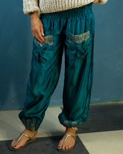 Load image into Gallery viewer, Blue Silky Boho Gypsy Pants - Beths Emporium