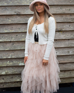 Blush Tiered Tulle Tutu Skirt - Beths Emporium