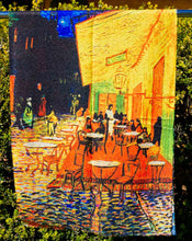Load image into Gallery viewer, Cotton Impressionist Art Scarf - van Gogh : Night Cafe