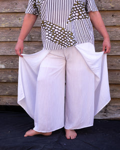 White Flare Pants - Beths Emporium