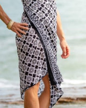 Load image into Gallery viewer, Artisan Sarong - Elegant Elegy - Hand Block Printed - 100% Cotton