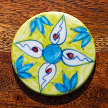 Load image into Gallery viewer, Coaster - Slice of LIme - Hand Painted. Colourful, Boho, Unique - Beths Emporium