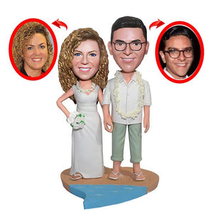 Personalized Wedding Couple Bobbleheads, Personalized Figurine Wedding Cake Toppers From Your Photos - Abobblehead.com