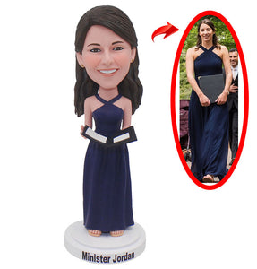 Custom Evening Dress Girl Bobbleheads Funny Gift  That Looks Like My Girlfriend - Abobblehead.com
