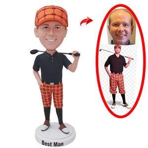 Custom Golf Bobbleheads Best Gift For Golf Lovers, Custom Dolls For Golf Lovers - Abobblehead.com