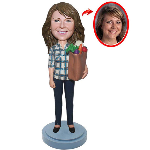 Custom Bobblehead Made That Looks Like My Daughter, Build Your Own Bobblehead - Abobblehead.com