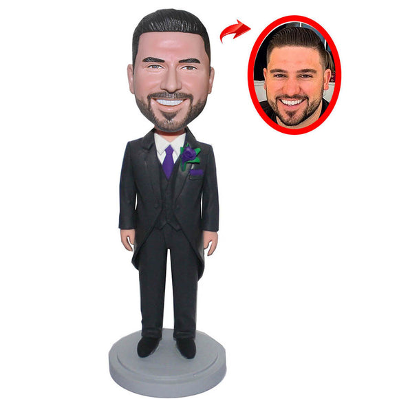 Custom Groom Or Groomsman Bobbleheads, Personalized Groomsmen Bobbleheads - Abobblehead.com