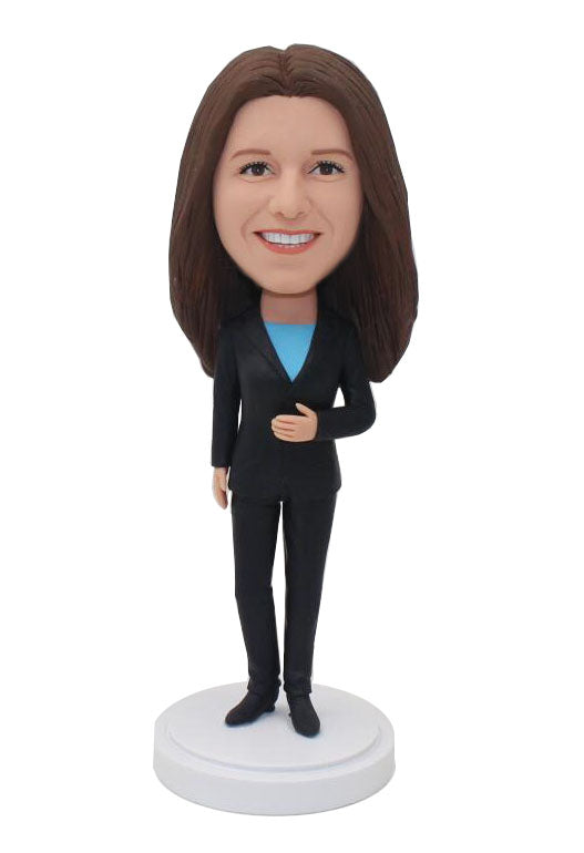 Custom Bobbleheads Meaningful Gifts For Boss, Personalized Office Bobblehead Business Cooperation Gift - Abobblehead.com