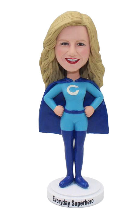 Buy Customized Superhero Bobblehead, Personalized Superwoman Action Figure - Abobblehead.com