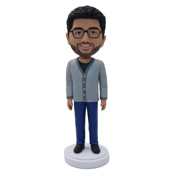 Custom Man Bobbleheads That Look Like You, Create Your Own Doll That Looks Like You - Abobblehead.com