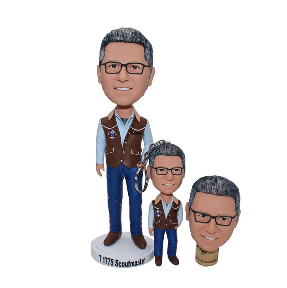 Custom Scoutmaster Bobblehead, Create Your Own Bobblehead - Abobblehead.com