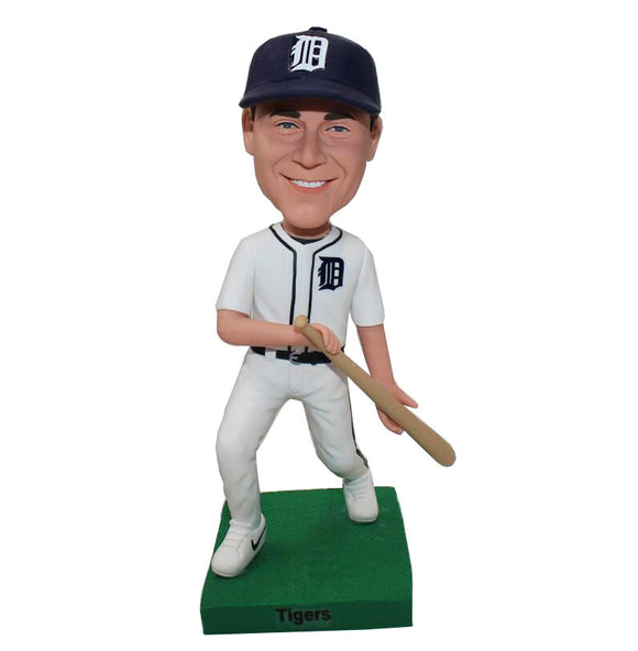 Personalized Baseball Batter Bobbleheads, Custom Baseball Bobbleheads Best Gift For Young Baseball Player - Abobblehead.com