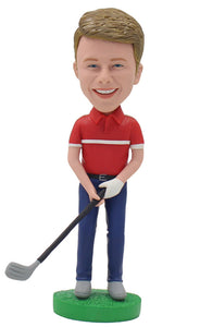 Custom Golfer Bobblehead Man, Personalized Golf Bobblehead, Customized Golf Bobblehead - Abobblehead.com