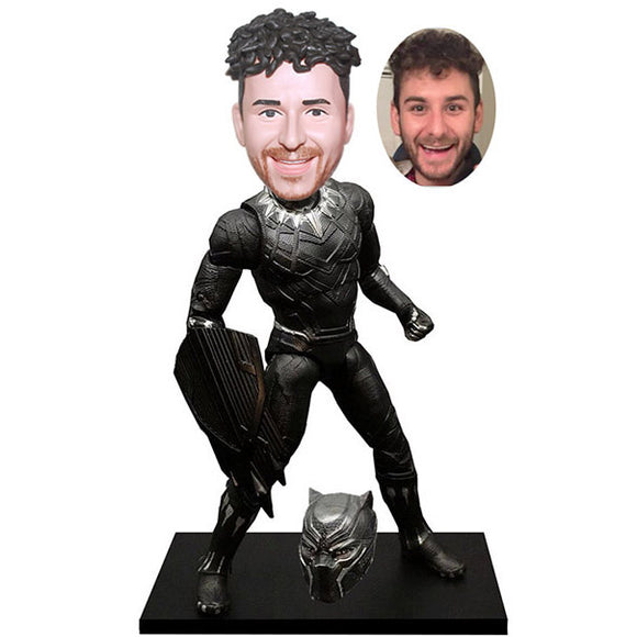 Custom Black Panther Bobblehead Action Dolls, Personalized Black Panther Bobblehead Maker - Abobblehead.com