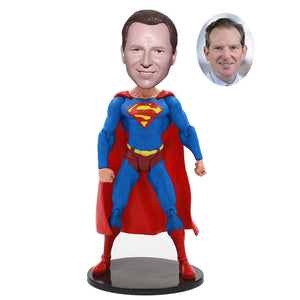 Personalized Superman Bobblehead, Make Yourself Into Superman Figure - Abobblehead.com